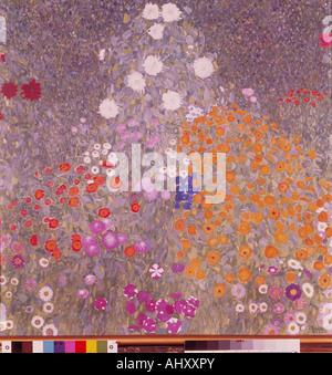 """""""Fine Arts, Klimt, Gustav (1862-1918),""""Blumengarten"""", (""""Blumengarten""""), 1905 / 1906, Öl auf Leinwand, 110 x 110 - Stockfoto"""