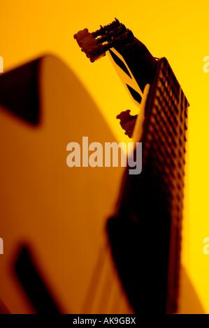 Akustikgitarre-detail - Stockfoto