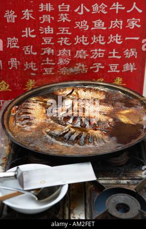 Essen auf Verkauf in China Peking Hutong - Stockfoto