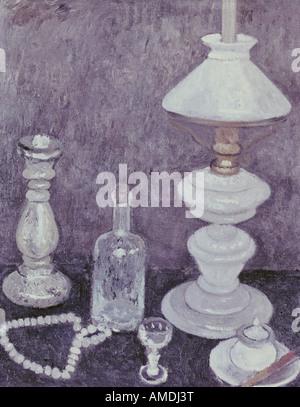 Bildende Kunst, Modersohn-Becker, Paula (1876-1907), Gemälde, Stillleben mit Lampe, Lower Saxon Landesgalerie, Hannover, - Stockfoto