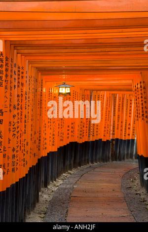 Torii Toren, Fushimi Inari-Taisha Schrein, Kyoto, Honshu, Japan - Stockfoto