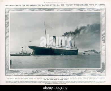 Titanic In Southampton - Stockfoto