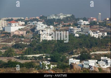 Andhra Pradesh, Hyderabad, Indien. HITEC Stadt, Major Center der indischen Call Centre Softwareindustrie - Stockfoto