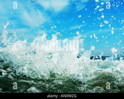 Wellen der Südküste von England abgeschossen - Stockfoto