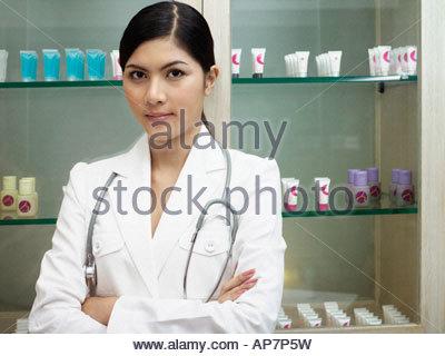 Porträt eines Arztes - Stockfoto