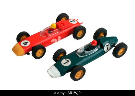 1960er Jahren zwei Tri-Ang Scalextric Rennwagen - Stockfoto