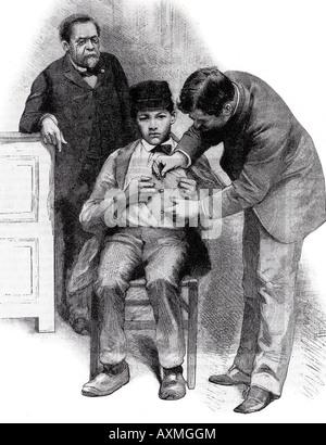 LOUIS PASTEUR 1885 Gravur von Scientific American Magazin - siehe Beschreibung unten für details - Stockfoto