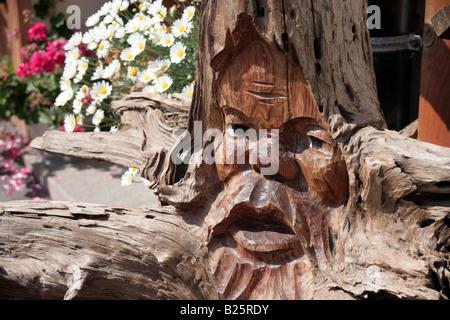 Schwarzwälder Holzschnitzerei Triberg Deutschland - Stockfoto