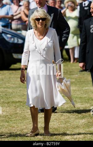 Seine königliche Hoheit Camilla Duchess of Cornwall besucht der Sandringham Flower Show in Norfolk, England - Stockfoto