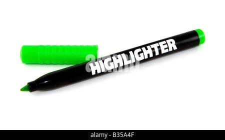 grüne Highlighter - Stockfoto