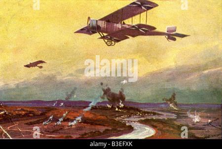 Veranstaltungen, ersten Weltkrieg / WWI, Luftkrieg, Frankreich, deutsche Flugzeug auf einem Erkundungsflug über - Stockfoto