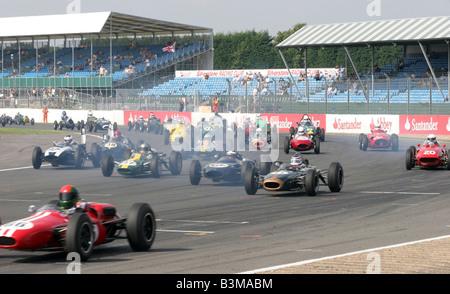 Start der Sport Rennwagen - Stockfoto