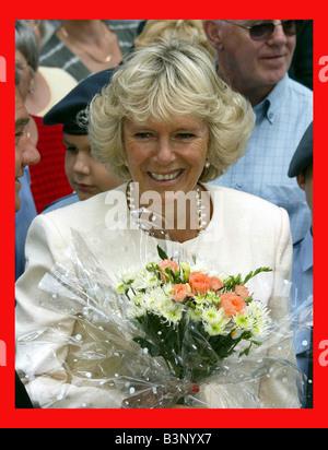 PPrince Charles und Camilla Parker Bowles besuchen die Sandringham Blumenschau Juli 2003 - Stockfoto