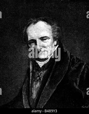 Denon, Dominique-Vivant, 4.1.1747 - 27.4.1827, französischer Maler, Schriftsteller, Porträt, Holzstich, nach einem - Stockfoto