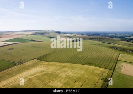 Luftaufnahme von Sussex Felder - Stockfoto