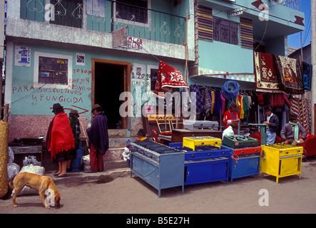 Markttag Zumbahua Cotopaxi Provinz Ecuador Südamerika - Stockfoto
