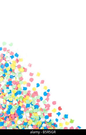 Hintergrund mit vielen bunten Confettis gemacht - Stockfoto