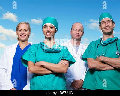 Porträt des medizinischen Teams - Stockfoto