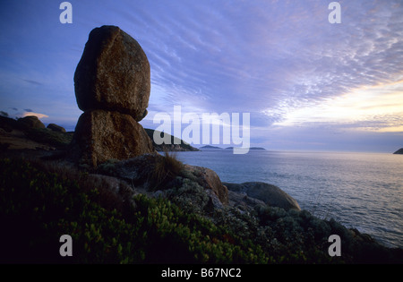 Granitfelsen in der Nähe von Whisky Bay, Wilsons Promontory National Park, Victoria, Australien - Stockfoto