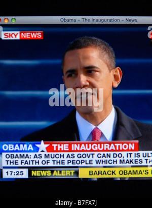 Der historische Amtseinführung von Barack Obama am 20. Januar 2009 - Stockfoto