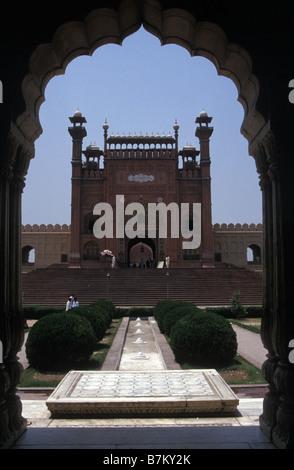 Eingang zum Roten Fort Lahore Punjab Pakistan - Stockfoto