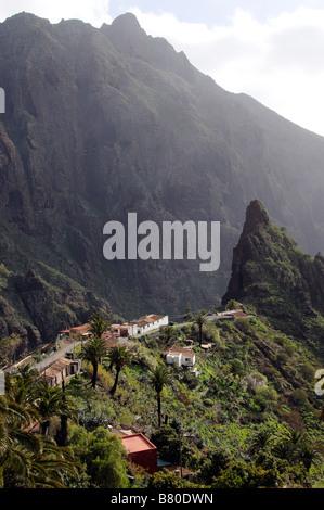 Die kleinen Bergdorf Masca des Teno-Massivs Teneriffa Kanarische Inseln - Stockfoto