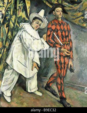 Paul Cezanne 1839 1906 Pierrot und Harlekin-Puschkin-Museum für Kunstreproduktion - Stockfoto