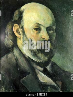 Paul Cezanne 1839 1906 Self Portrait Puschkin-Museum für Kunstreproduktion - Stockfoto