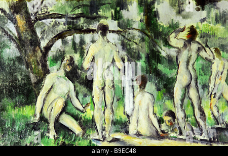Paul Cezanne 1839 1906 Badegäste Puschkin-Museum für Kunstreproduktion - Stockfoto