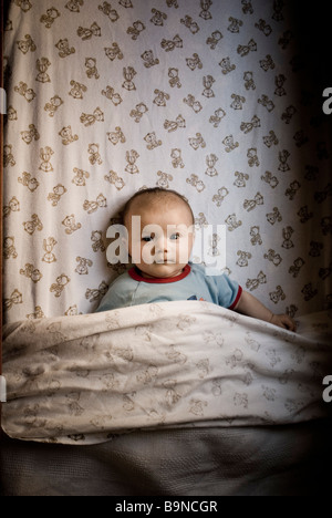 Baby in Wiege - Stockfoto