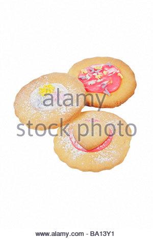 Handmade/hausgemachte Kekse. - Stockfoto