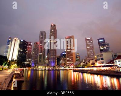 Skyline, Singapur, Asien - Stockfoto