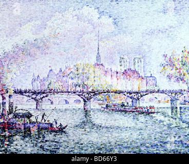 "Bildende Kunst, Signac, Paul, (1863-1935), Malerei, ""Paris, Ile De La Cite"", 1912, Öl auf Leinwand, Museum Folkwang, - Stockfoto"