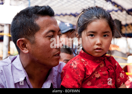 Tibetische Flüchtlinge In Bylakuppe Bundesstaat Karnataka Indien - Stockfoto
