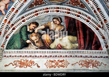 Trento Fresko Castello Buonconsiglio - Stockfoto