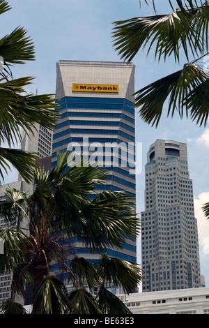 Maybank, Singapur Skyline, zentralen Geschäftsviertel von Singapur, Singapur, Asien - Stockfoto