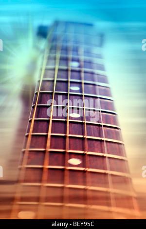 Akustische Gitarrenhals - Stockfoto