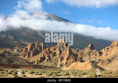 Teneriffa, Kanarische Inseln, vulkanische Berglandschaft, Parque Nacional del Teide, Las Canadas Del Teide - Stockfoto