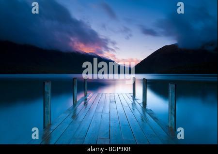 Lake Rotoiti, Südinsel, Neuseeland - Stockfoto