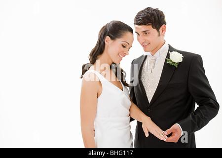 Portrait einer Braut und Bräutigam - Stockfoto