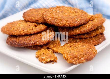 Teller mit hausgemachten Keksen - Stockfoto