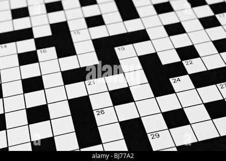 Kreuzworträtsel - Stockfoto