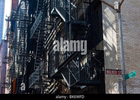 Cortlandt Gasse in Tribeca, Untergrundstation, New York - Stockfoto