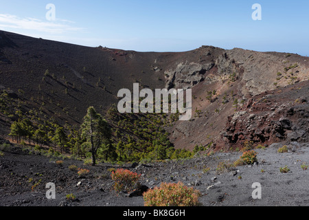 San Antonio-Vulkan in der Nähe von Fuencaliente, La Palma, Kanarische Inseln, Spanien, Europa - Stockfoto