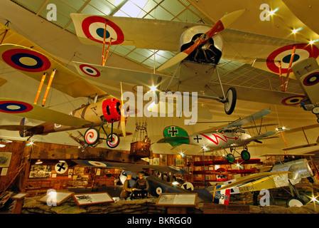 1. Weltkrieg Flugzeug, auf dem Display an der San Diego Aerospace Museum, San Diego, Kalifornien - Stockfoto