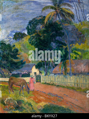 Landschaft: Pferd unterwegs von Paul Gauguin (1848-1903), Russland, Moskau, Pushkins Museum of Fine Arts - Stockfoto