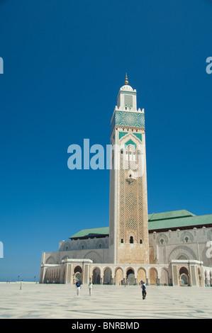 Afrika, Marokko, Casablanca. Hassan II Moschee (aka König Hassan Mosque), drittgrößte Moschee der Welt. - Stockfoto