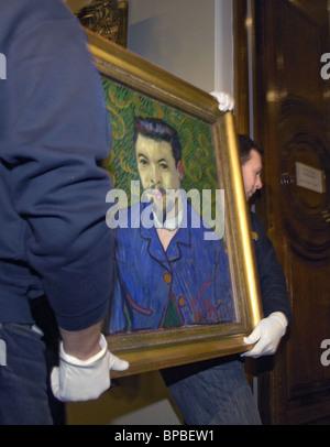 Experten prüfen, Gemälde von Vincent Van Gogh, die aus der Schweiz zurückgegeben - Stockfoto