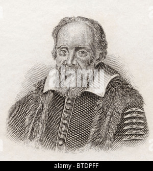 Galileo Galilei 1564-1642. Italienischer Physiker, Mathematiker, Astronom und Philosoph. - Stockfoto