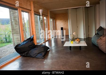 """Paris, Frankreich, grünes Haus, Energieverbrauch, """"Passivhaus"""" in Paris Vororte innen Null / Kredit-Arch: Micha - Stockfoto"""